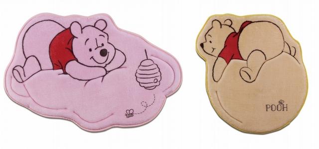 6. 維尼記憶綿造型踏墊(氣球黃、雲朵粉)
