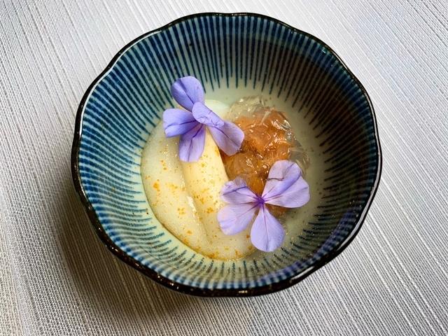 白蘆筍、海膽