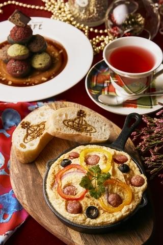 時蔬烘蛋巧巴達、聖誕隕⽯、洛神玫瑰花茶