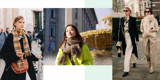 冷冷的天就需要一條圍巾!偷學街拍達人的10+種圍巾潮搭法,瞬間保暖又有型