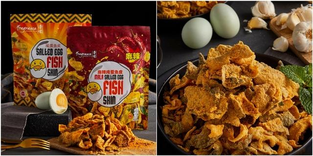 新加坡人氣伴手禮《香味》鹹蛋黃魚皮7-11限時開賣!100%真鹹蛋製作,麻辣、原味兩款都好涮嘴,零食控必買!