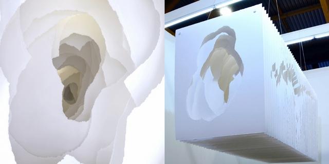冷冽冰山就在眼前!德國雕塑家Angela Glajcar亞洲首展《紙的顛覆與構築》用紙雕型塑冰川世界