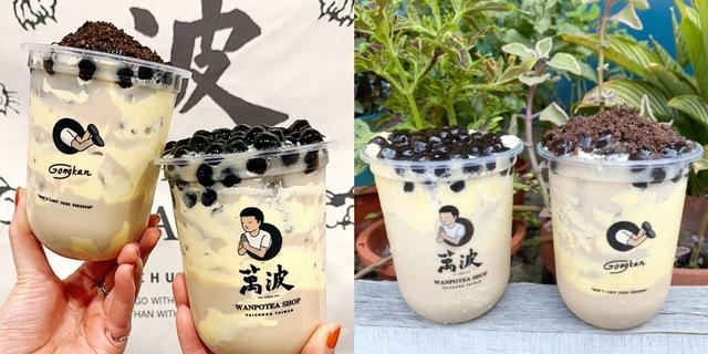 萬波人氣主打「雞蛋糕奶茶」!「雞蛋糕+波霸奶茶」療癒組合,配上泰國藝術家Gongkan的萌系杯款,快排隊搶喝