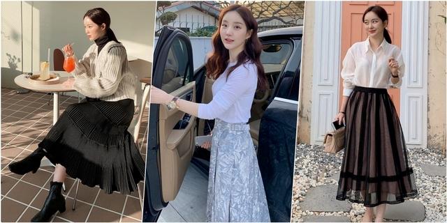 一穿大屁屁消失了!春季必會4種長裙顯瘦搭配,輕鬆GET韓系小姊姊的仙氣呀!