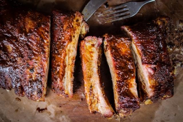 推薦幸福晚餐:燻烤美式豬肋排、牛胸肉