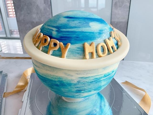 水藍星球蛋糕 1850元(6吋)