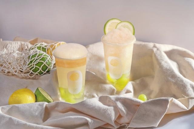 氣泡多多綠茶葡萄凍飲 70元