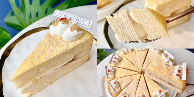 絕美人氣甜點「時飴Approprie」夏日限定口味!「白水蜜桃千層蛋糕」直接放入整顆水蜜桃,粉嫩多汁超誘人