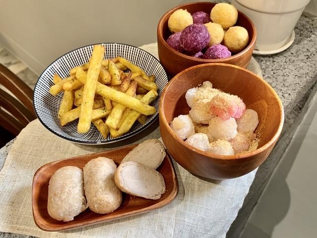 芋丸、地瓜球、憨吉薯條、炸湯圓 均45元