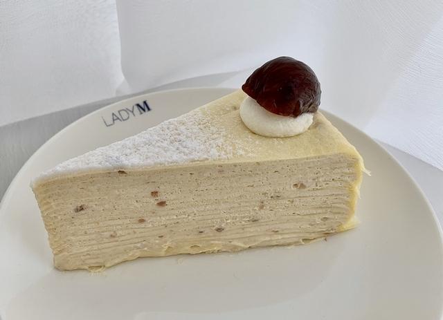 栗子千層蛋糕(切片 280 元 / 九吋 2,800 元)