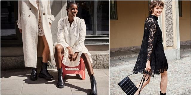 是時髦咖最愛的黑白色!H&M全新8款秋季絕美洋裝,想不到居然是由它製成