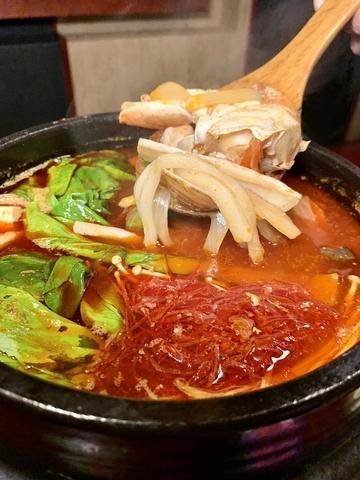 辣海鮮豆腐湯