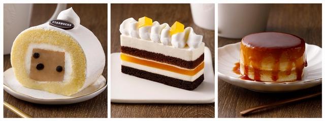 珍珠奶茶奶凍捲、海鹽百香巧克力蛋糕、醇濃布丁蛋糕