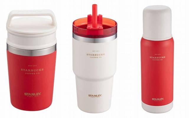 STANLEY 8OZ WR不鏽鋼杯 980元、STANLEYWR不鏽鋼TOGO冷水杯 1,250元、STANLEYWR不鏽鋼保溫壺 1,280元