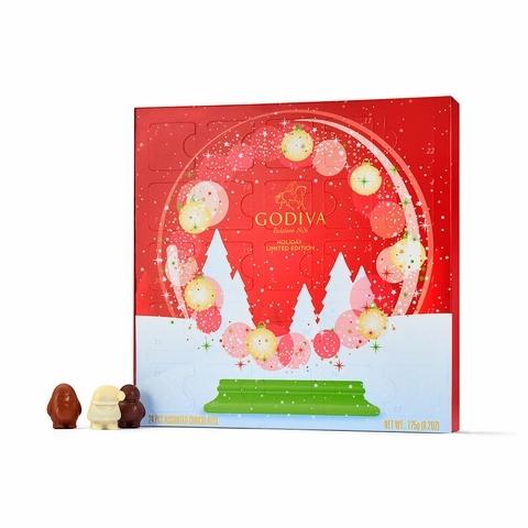 GODIVA 聖誕倒數日曆巧克力禮盒 2,500元(24顆裝)
