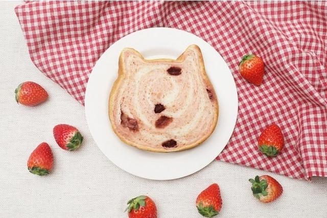日本新口味!草莓斑紋貓咪吐司