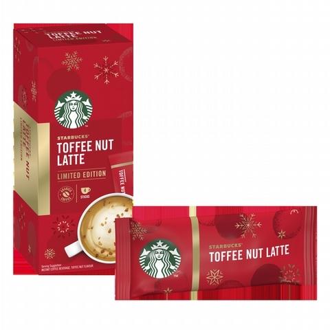 星巴克特選系列-太妃核果風味拿鐵即溶咖啡(隨手包) 135元/盒