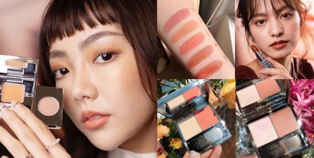 RMK春妝每一款都好欠買,不挑膚色的棕采輕潤口紅#05,為兩頰帶來珠光亮澤的棕采調色頰盒#01,就像春光撒在肌膚上啊