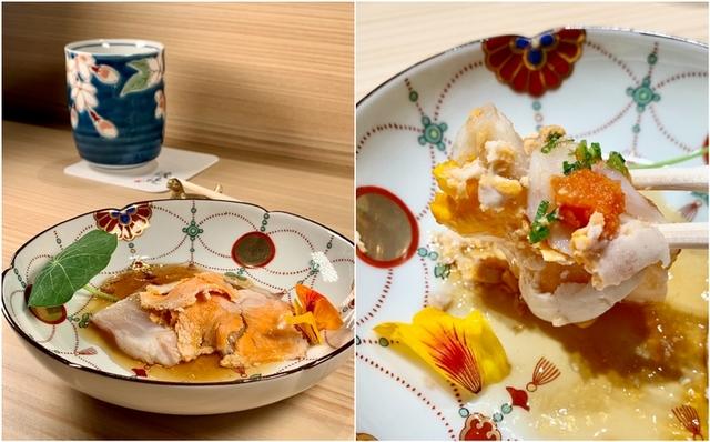 嚴選「日本三大夢幻魚」鮟鱇魚肝料理,清新又爽口。