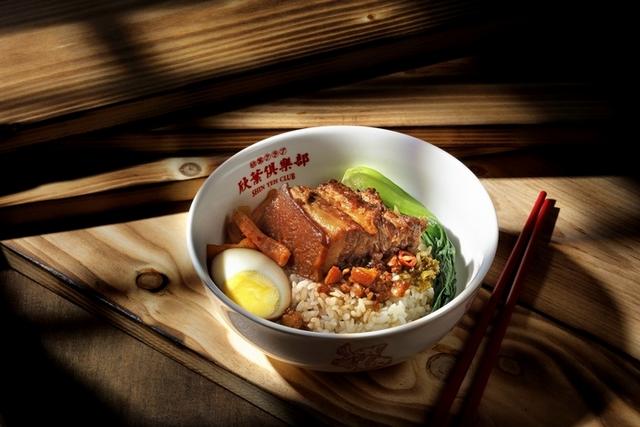 平日午間:主餐台味定食+迷你百匯 380元(圖:午間限定的滷肉飯)