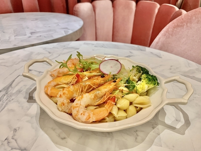 泰式鮮蝦咖哩貝殼麵 360元