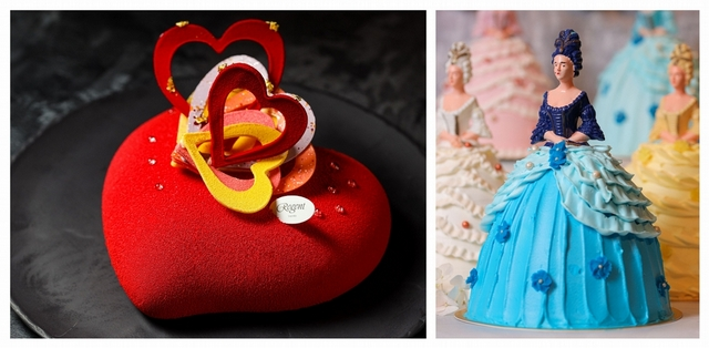 晶華酒店 Rouge in Love 臻馨 1,280元(6吋,左)、Marquise 侯爵夫人 1,980元(18cm x 18cm x 26cm,右)