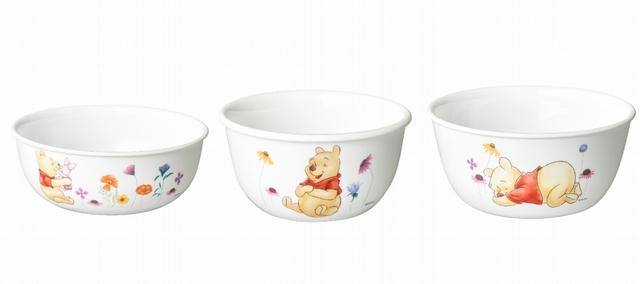 小熊維尼飯碗( 325ml)、小熊維尼韓式湯碗(473ml)、小熊維尼拉麵碗(900ml)