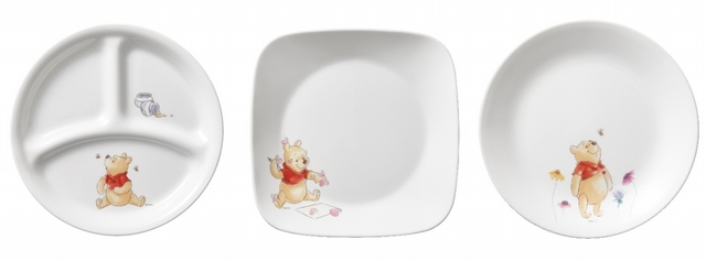 小熊維尼分隔盤(8吋)、小熊維尼方盤(8吋)、小熊維尼平盤(8吋)