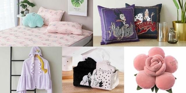 HOLA聯名迪士尼公主與反派角色!貝殼造型抱枕、烏蘇拉踏墊、庫伊拉面紙盒太帥氣,超過40款周邊家飾排隊都要買