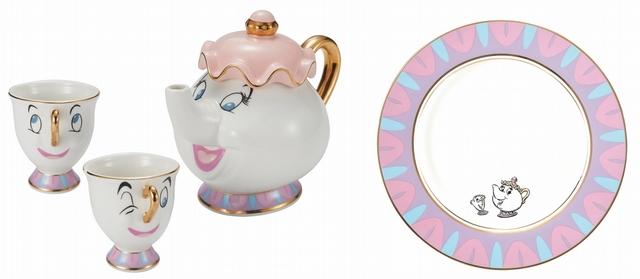 美女與野獸杯壺組 特價1,490元、美女與野獸餐盤 特價349元(20cm)