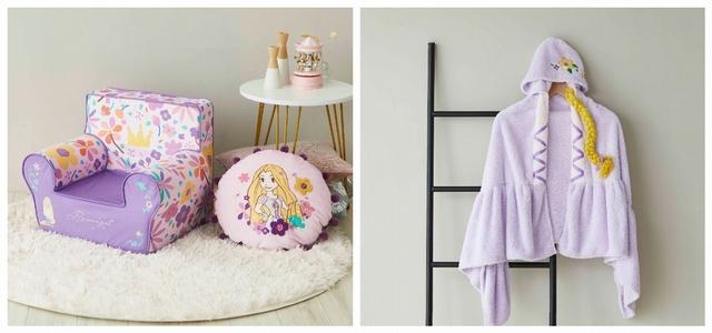 樂佩公主小沙發 特價1,690元、樂佩公主抗菌造型抱枕 特價699元、樂佩公主兒童造型浴袍 特價1,290元