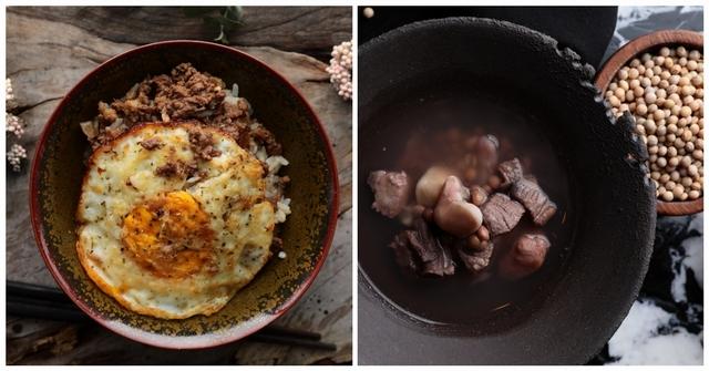 煙燻刺蔥牛肉燥(120元/包)、勇士樹豆菱角小排湯(165元/包)