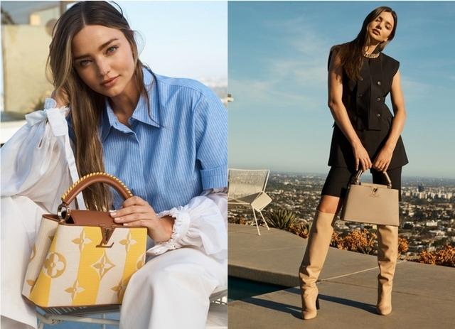 超模Miranda Kerr為LV復出拍形象照!夏日新款Capucines手袋這樣搭最時髦