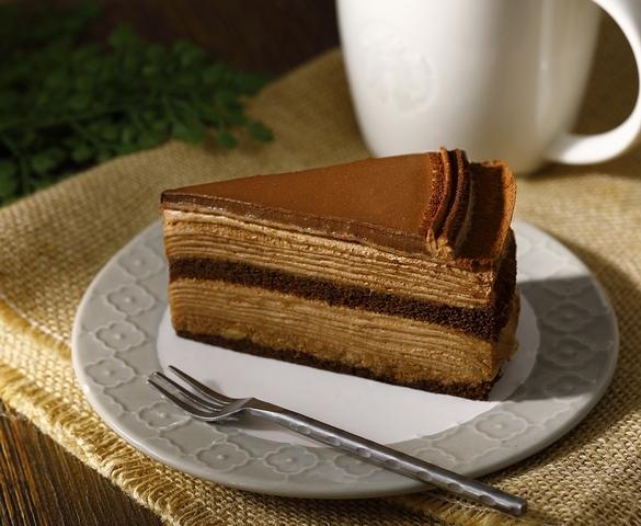 圖為:法式巧克力千層薄餅