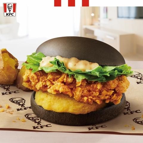 金薯黑爵士咔啦雞腿堡