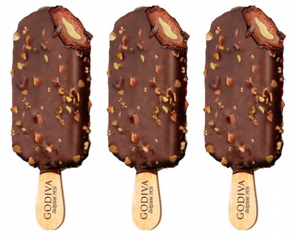 GODIVA 焦糖脆碎檸檬茶風味黑巧克力雪糕 99元