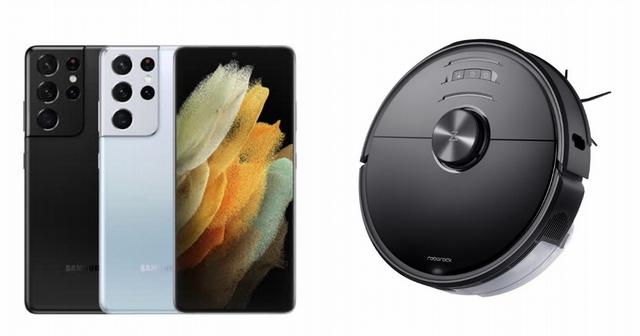 Samsung Galaxy S21 Ultra 256G 28,999元、Roborock S6 MaxV 石頭掃地機器人 12,500元