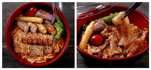 鳥丈爐端燒 3 款經典丼飯通通百元有找!(圖為:炭烤串燒丼飯、特製燒肉丼飯均 99元)