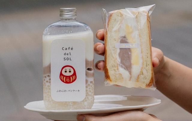 芋泥布丁舒芙蕾三明治套餐 280元(含芋頭西米露)