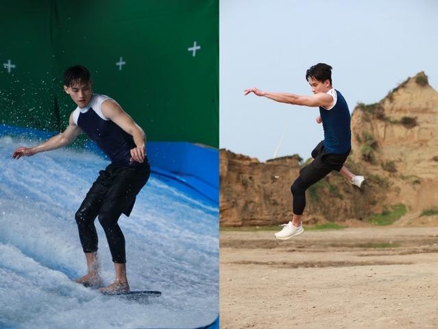 范少勳就愛「激烈運動」掛彩沒在怕!翻轉秀踏浪神技化身台版「水行俠」