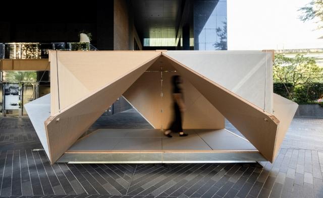 為台灣設計的全新戶外裝置「摺箱」 ©忠泰美術館