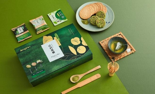 辻利茶舗 健司 X 辻利煎茶茶點禮盒 450元