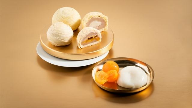 食芋堂中秋限定奢華禮盒《金芋》(600元/盒,9入,溏心芋頭酥×6+Q心芋頭酥×3,蛋奶素)