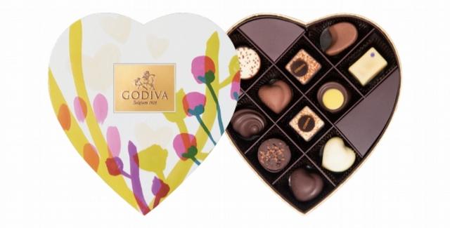 GODIVA 夏之戀心型巧克力禮盒 1,580元(11顆裝)