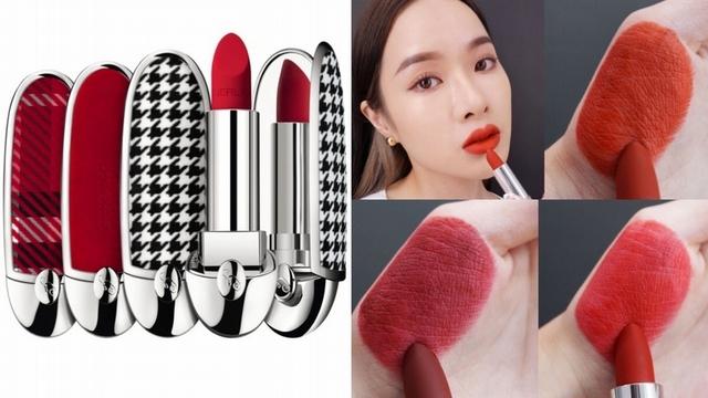 嬌蘭紅寶之吻高訂紅絲絨唇膏,擦的是氣勢也是氣色,15全新色號6款彩殼,打造最美法式美唇