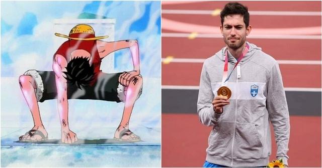 東奧跳遠金牌選手致敬海賊王魯夫!賽前這動作太可愛引話題