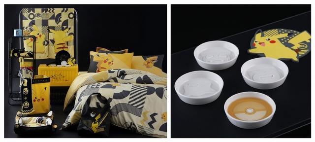 寶可夢天絲床包兩用被組 4,280元(雙人)/ 寶可夢造型醬油碟 499元 / 寶可夢造型矽膠鍋墊 399元