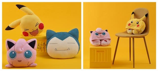 皮卡丘、卡比獸、胖丁造型抱枕 799元(單件)/ 皮卡丘、胖丁造型頸枕 799元(單件)
