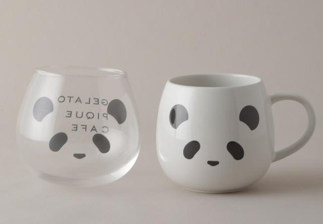 熊貓玻璃杯 680元、熊貓馬克杯 580元