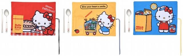 Hello Kitty餐具餐墊三件組 490元(共3款,隨機出貨,不可挑款)